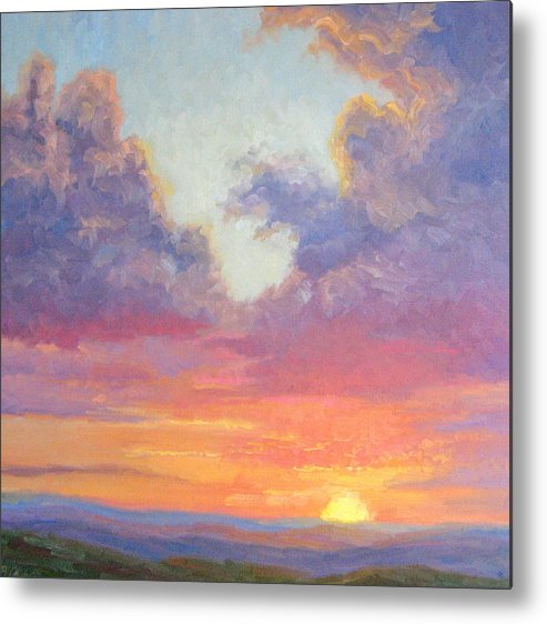 Sunset Metal Print featuring the painting Glory Of The Western Sky by Bunny Oliver