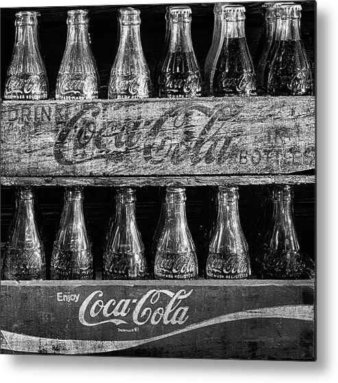 Coke Metal Print featuring the photograph The Old Coke Stack In Black And White by JC Findley