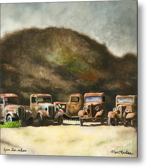 Will Bullas Metal Print featuring the painting Five Star Motors... by Will Bullas