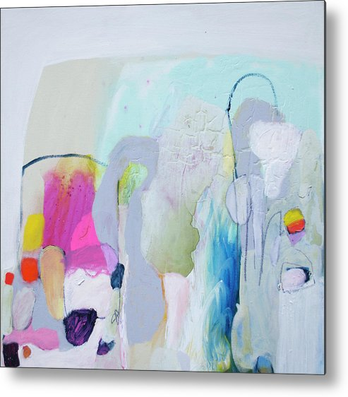 Abstract Metal Print featuring the painting 4 Years Ago by Claire Desjardins