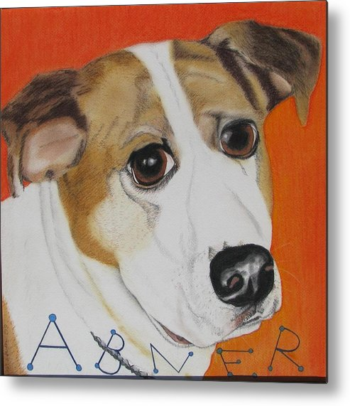 Dog Portrait Metal Print featuring the painting Abner by Michelle Hayden-Marsan