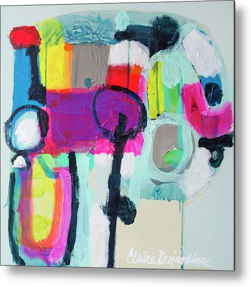 Abstract Metal Print featuring the painting Learner's Permit by Claire Desjardins