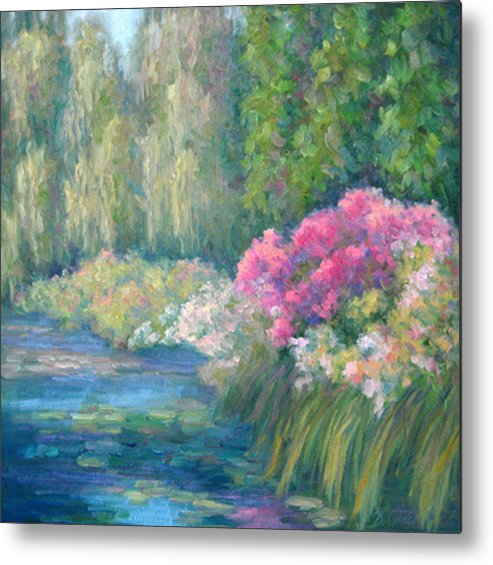 Pond Metal Print featuring the painting Monet's Pond by Bunny Oliver