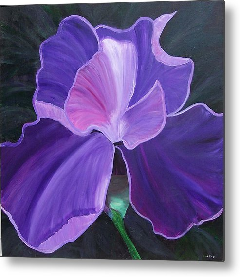 Flower Metal Print featuring the painting Royal Beauty by Marcia Paige