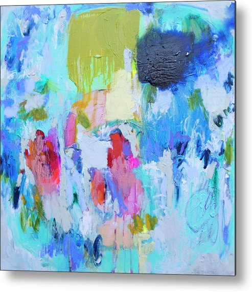 Abstract Metal Print featuring the painting Soul Feeling by Claire Desjardins