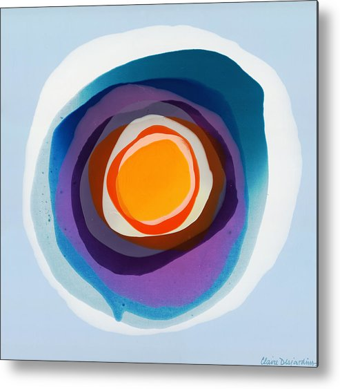 Abstract Metal Print featuring the painting Focussed by Claire Desjardins