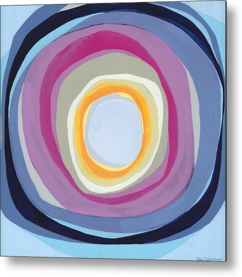 Abstract Metal Print featuring the painting Hang Cool by Claire Desjardins