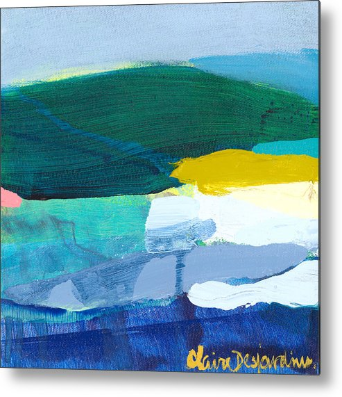 Abstract Metal Print featuring the painting When Winter Melts Away by Claire Desjardins