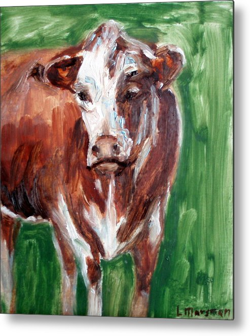 Animals Metal Print featuring the painting Alabama Cow by Lia Marsman
