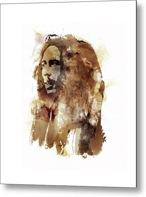 Bob Marley Metal Print featuring the digital art Stir It Up by Laurence Adamson