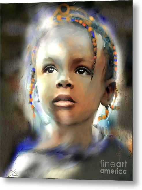 Portraits Metal Print featuring the painting Shine On Me by Bob Salo