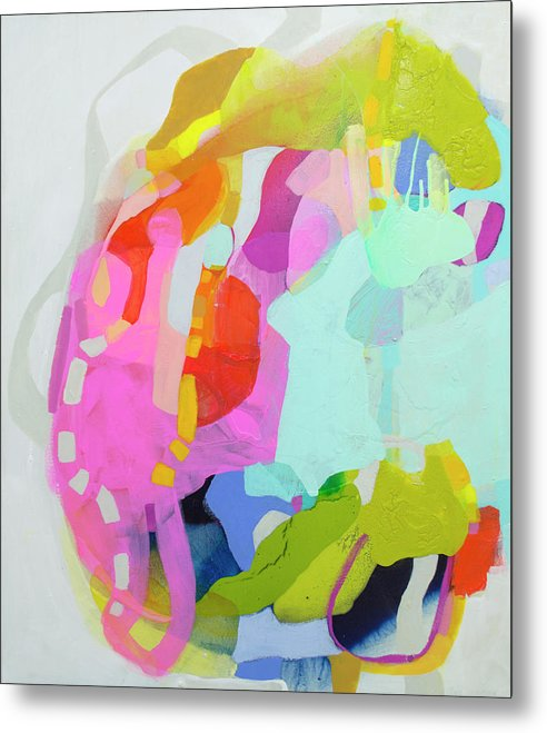 Abstract Metal Print featuring the painting I'm So Glad by Claire Desjardins