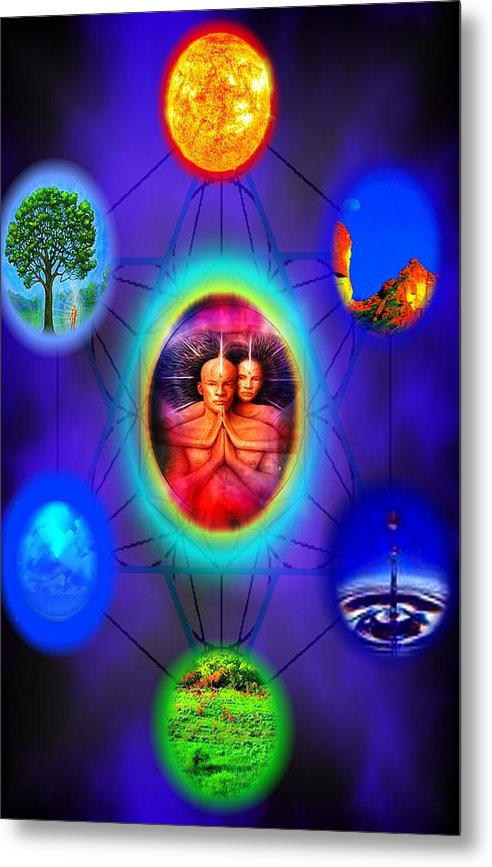 Elemental Metal Print featuring the digital art Life Force Connection by Debra MChelle