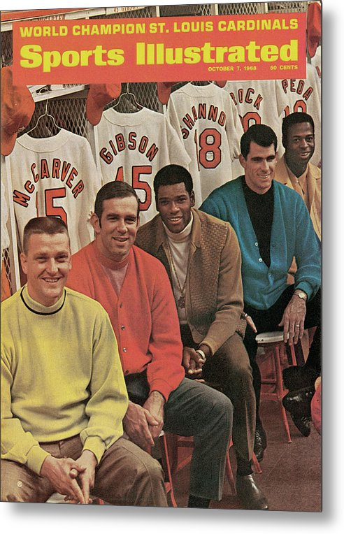 St. Louis Cardinals Metal Print featuring the photograph St. Louis Cardinals, 1968 World Series Champions Sports Illustrated Cover by Sports Illustrated