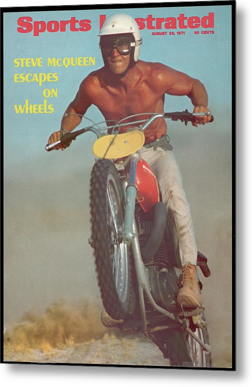 Magazine Cover Metal Print featuring the photograph Steve Mcqueen, Motocross Sports Illustrated Cover by Sports Illustrated