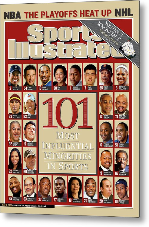 Women's Ice Hockey Metal Print featuring the photograph 101 Most Influential Minorities In Sports Sports Illustrated Cover by Sports Illustrated