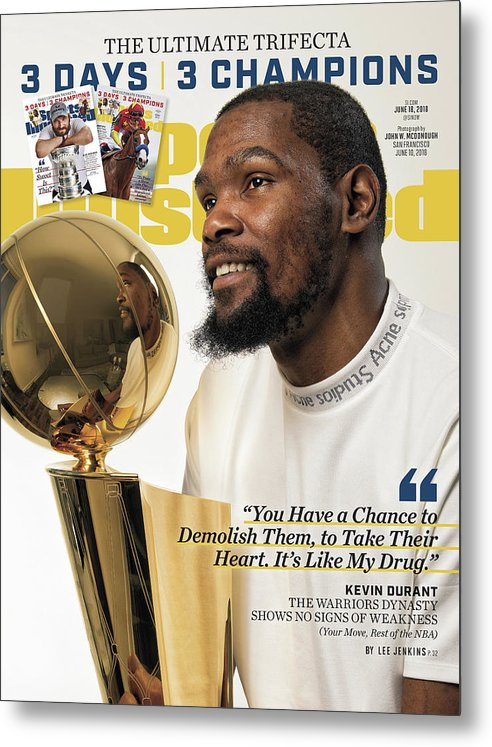 Magazine Cover Metal Print featuring the photograph The Ultimate Trifecta 3 Days, 3 Champions Sports Illustrated Cover by Sports Illustrated