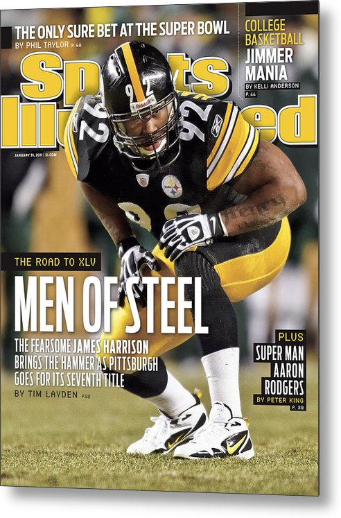 Magazine Cover Metal Print featuring the photograph 2011 Afc Championship New York Jets V Pittsburgh Steelers Sports Illustrated Cover by Sports Illustrated