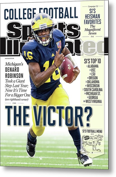 Magazine Cover Metal Print featuring the photograph 2012 College Football Preview Issue Sports Illustrated Cover by Sports Illustrated
