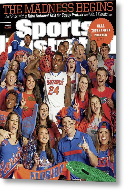 Magazine Cover Metal Print featuring the photograph 2014 March Madness College Basketball Preview Part II Sports Illustrated Cover by Sports Illustrated