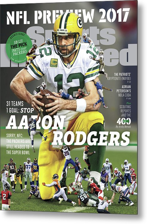 Season Metal Print featuring the photograph 31 Teams, 1 Goal Stop Aaron Rodgers, 2017 Nfl Football Sports Illustrated Cover by Sports Illustrated