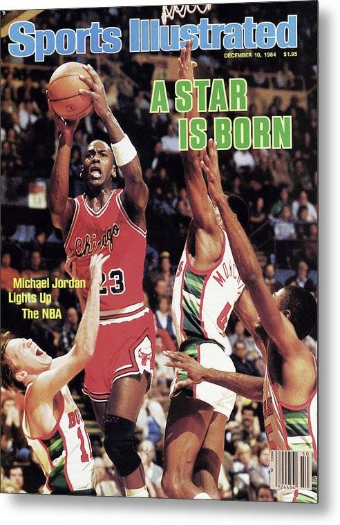 Chicago Bulls Metal Print featuring the photograph A Star Is Born Michael Jordan Lights Up The Nba Sports Illustrated Cover by Sports Illustrated