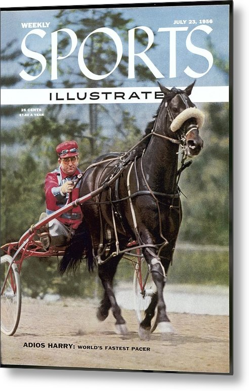 Horse Metal Print featuring the photograph Adios Harry, Harness Racing Sports Illustrated Cover by Sports Illustrated