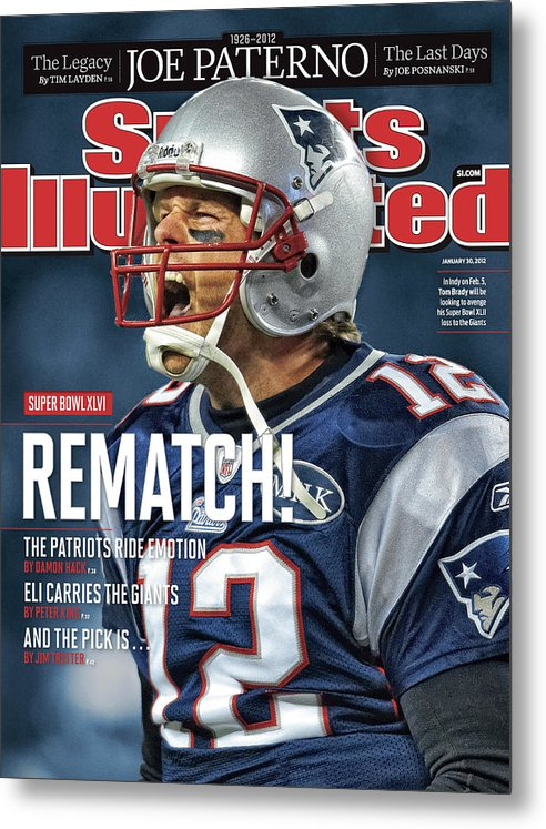 Magazine Cover Metal Print featuring the photograph Afc Championship - Baltimore Ravens V New England Patriots Sports Illustrated Cover by Sports Illustrated