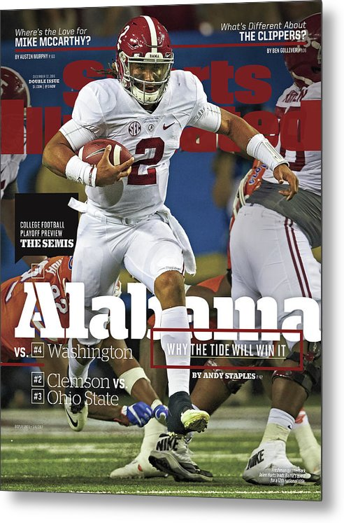 Atlanta Metal Print featuring the photograph Alabama Why The Tide Will Win It, 2016 College Football Sports Illustrated Cover by Sports Illustrated