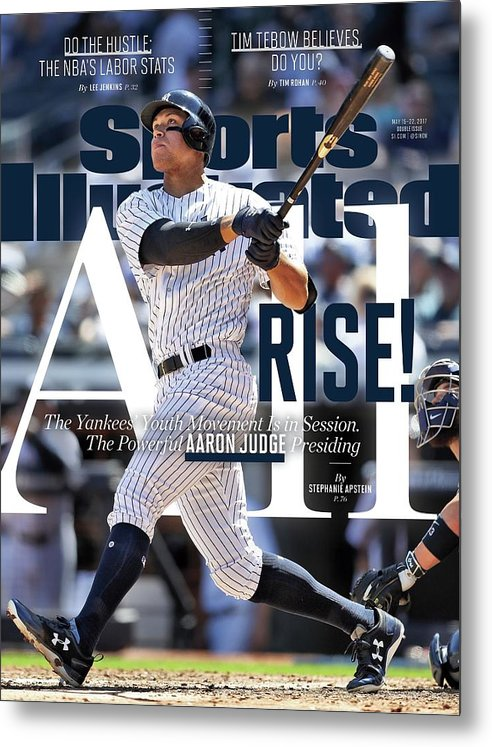Magazine Cover Metal Print featuring the photograph All Rise The Yankees Youth Movement Is In Session. The Sports Illustrated Cover by Sports Illustrated