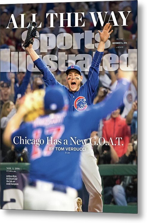 Magazine Cover Metal Print featuring the photograph All The Way Chicago Has A New G.o.a.t. Sports Illustrated Cover by Sports Illustrated