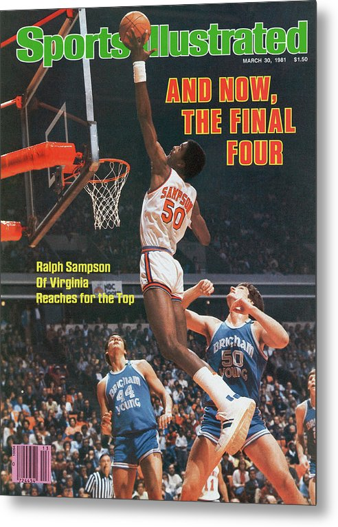 Atlanta Metal Print featuring the photograph And Now, The Final Four Ralph Sampson Of Virginia Reaches Sports Illustrated Cover by Sports Illustrated