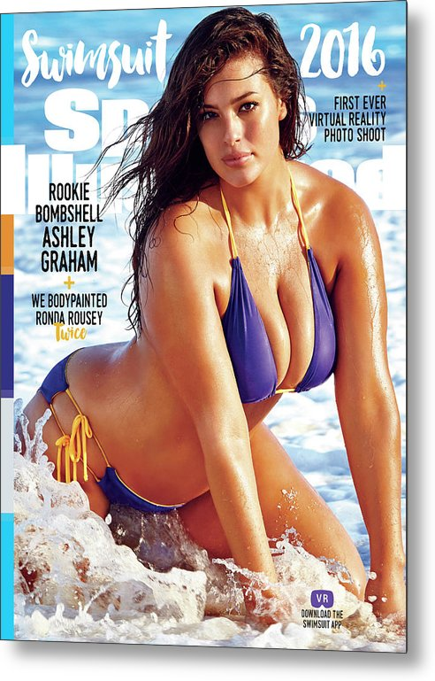 Three Quarter Length Metal Print featuring the photograph Ashley Graham Swimsuit 2016 Sports Illustrated Cover by Sports Illustrated
