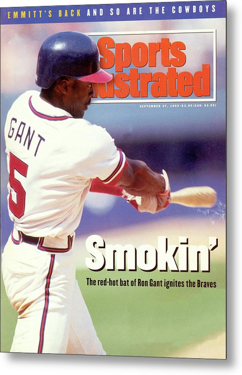 Atlanta Metal Print featuring the photograph Atlanta Braves Ron Gant... Sports Illustrated Cover by Sports Illustrated