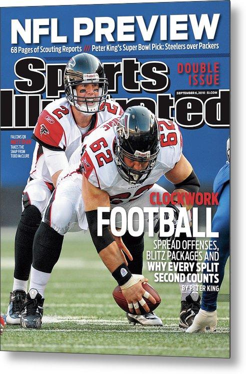 Magazine Cover Metal Print featuring the photograph Atlanta Falcons V New York Giants Sports Illustrated Cover by Sports Illustrated