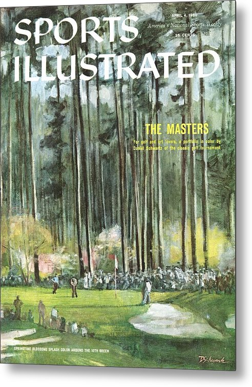 Magazine Cover Metal Print featuring the photograph Augusta National Golf Course, 1960 Masters Preview Sports Illustrated Cover by Sports Illustrated