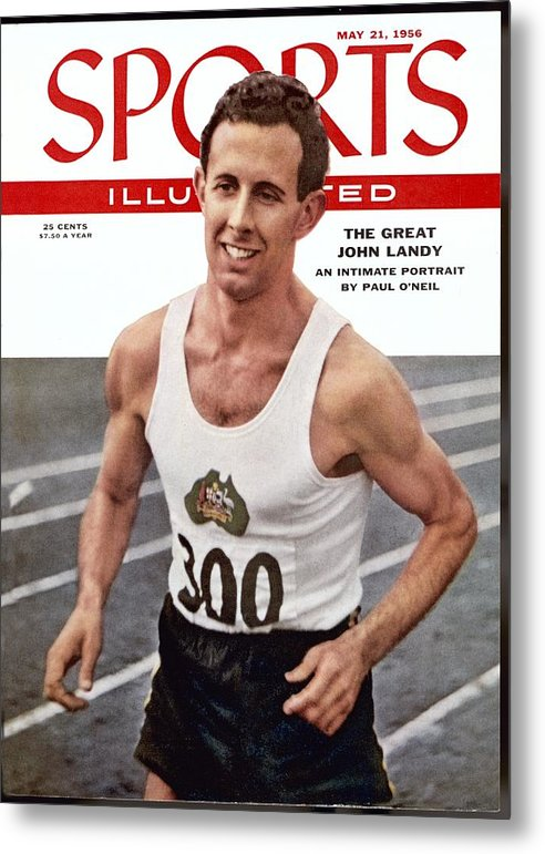 Magazine Cover Metal Print featuring the photograph Australia John Landy, 1954 British Empire And Commonwealth Sports Illustrated Cover by Sports Illustrated