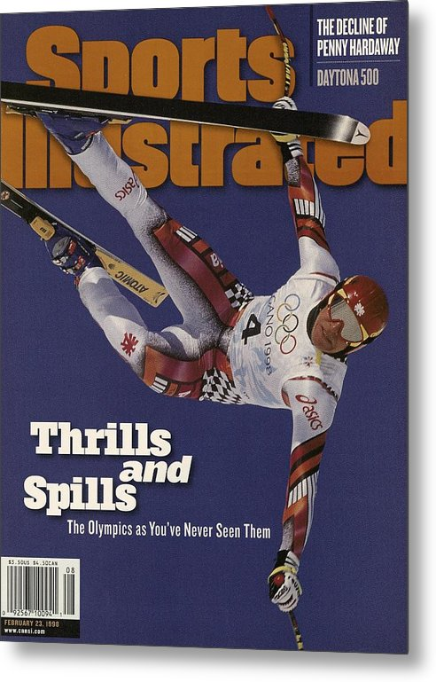 Skiing Metal Print featuring the photograph Austria Herman Maier, 1998 Winter Olympics Sports Illustrated Cover by Sports Illustrated