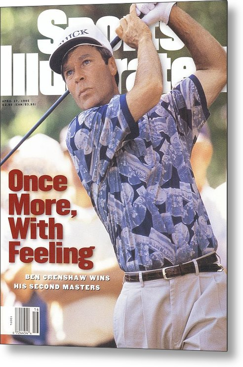 Magazine Cover Metal Print featuring the photograph Ben Crenshaw, 1995 Masters Sports Illustrated Cover by Sports Illustrated