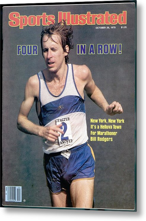 Magazine Cover Metal Print featuring the photograph Bill Rogers, 1979 New York City Marathon Sports Illustrated Cover by Sports Illustrated