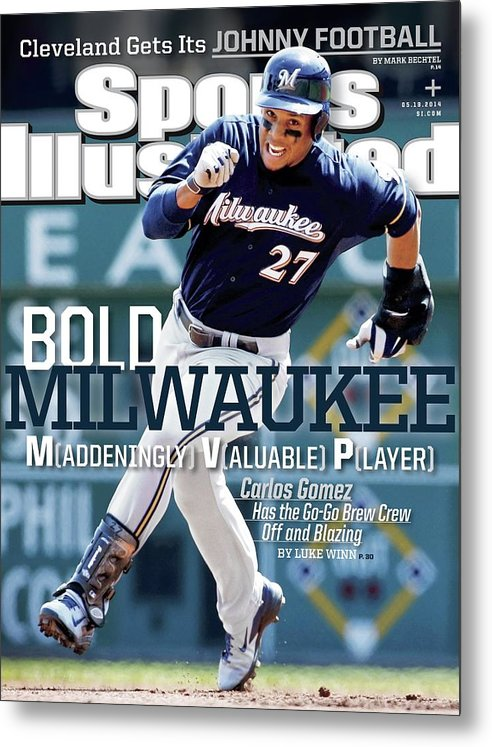 Magazine Cover Metal Print featuring the photograph Bold Milwaukee Maddeningly Valuable Player Sports Illustrated Cover by Sports Illustrated