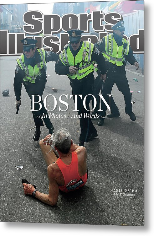 Magazine Cover Metal Print featuring the photograph Boston Bombing Sports Illustrated Cover by Sports Illustrated