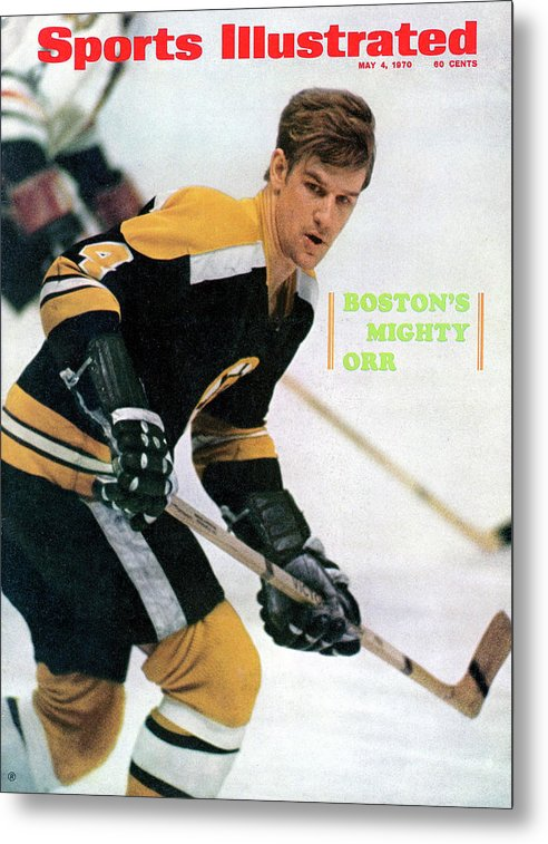 Playoffs Metal Print featuring the photograph Boston Bruins Bobby Orr, 1970 Nhl Eastern Division Sports Illustrated Cover by Sports Illustrated