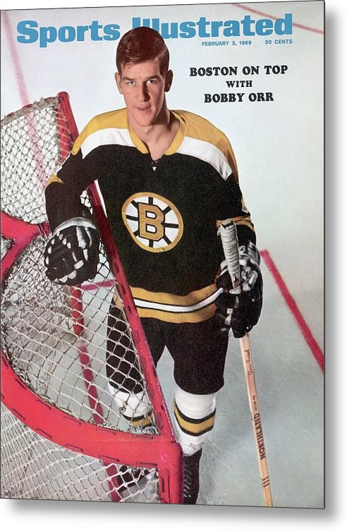 Magazine Cover Metal Print featuring the photograph Boston Bruins Bobby Orr Sports Illustrated Cover by Sports Illustrated