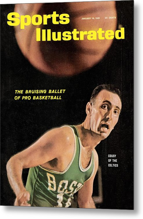 Magazine Cover Metal Print featuring the photograph Boston Celtics Bob Cousy Sports Illustrated Cover by Sports Illustrated