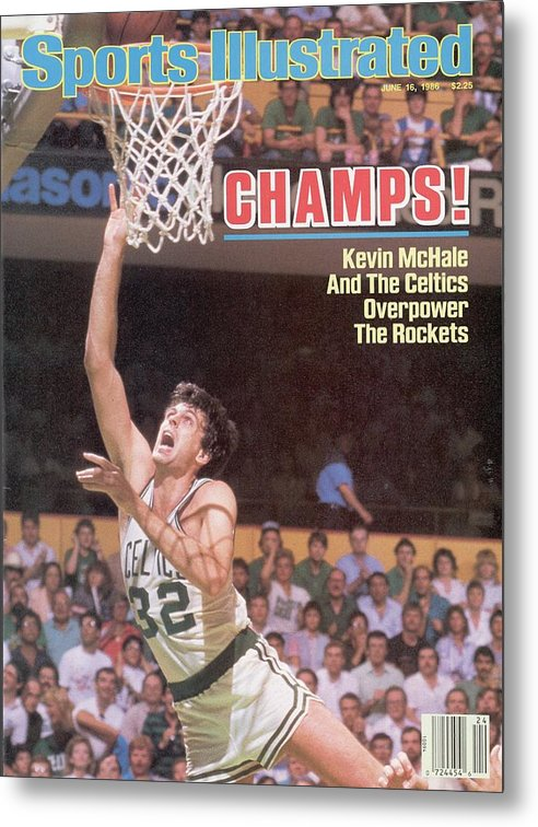 Playoffs Metal Print featuring the photograph Boston Celtics Kevin Mchale, 1986 Nba Finals Sports Illustrated Cover by Sports Illustrated