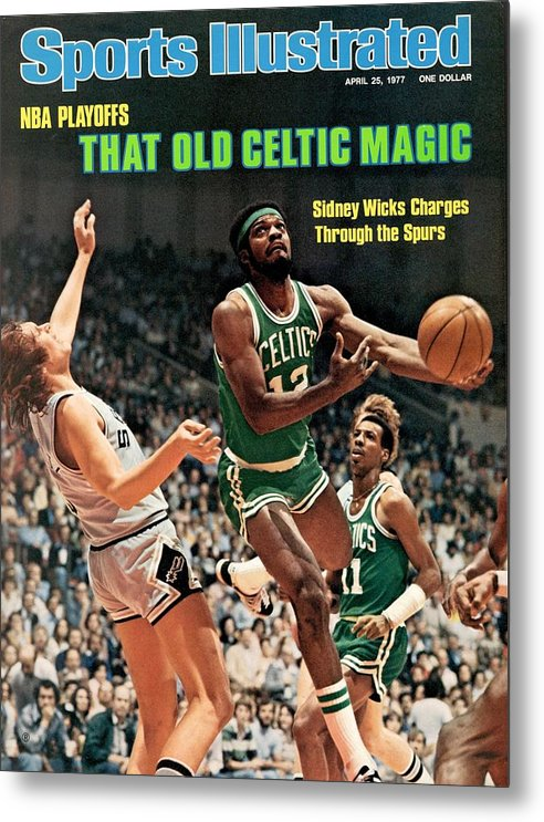 Playoffs Metal Print featuring the photograph Boston Celtics Sidney Wicks, 1977 Nba Eastern Conference Sports Illustrated Cover by Sports Illustrated