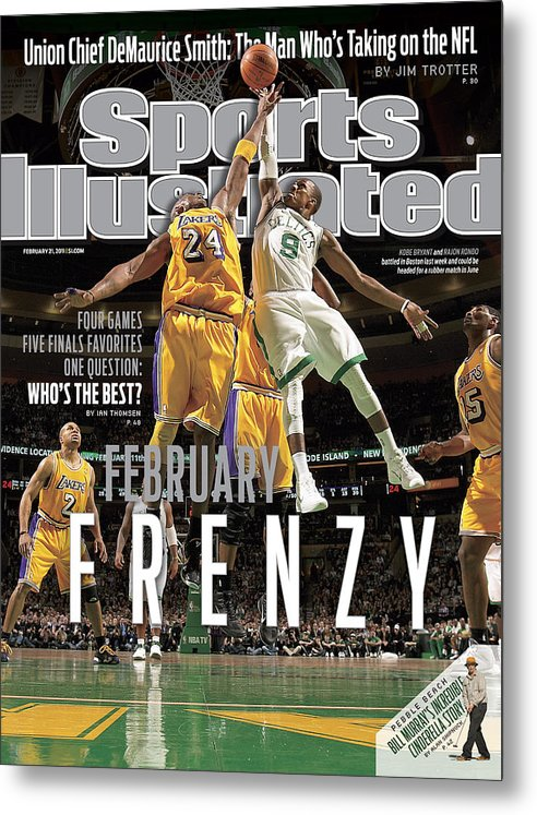 Nba Pro Basketball Metal Print featuring the photograph Boston Celtics Vs Los Angeles Lakers Sports Illustrated Cover by Sports Illustrated