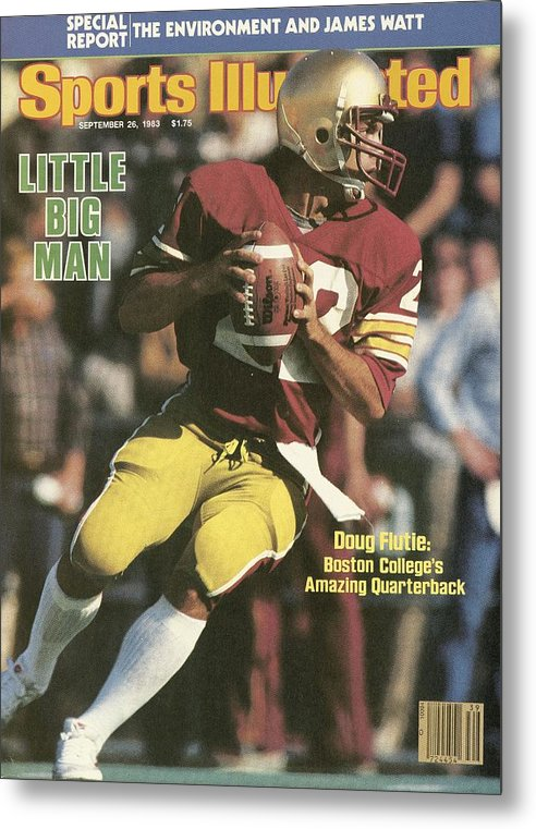 1980-1989 Metal Print featuring the photograph Boston College Qb Doug Flutie... Sports Illustrated Cover by Sports Illustrated