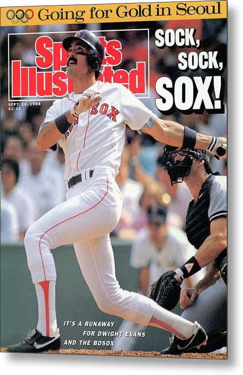 Magazine Cover Metal Print featuring the photograph Boston Red Sox Dwight Evans... Sports Illustrated Cover by Sports Illustrated